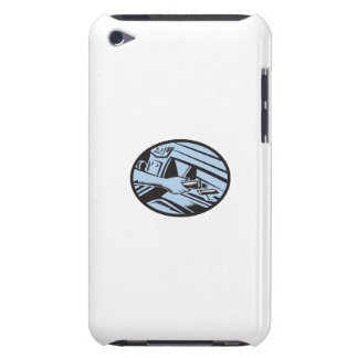 Hand Reaching in Glove Box for Energy Bar Oval Woo Case-Mate iPod Touch Case