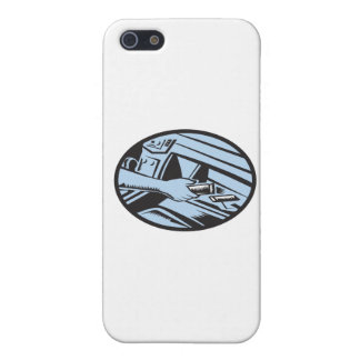 Hand Reaching in Glove Box for Energy Bar Oval Woo iPhone SE/5/5s Case