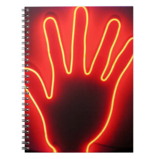 Hand Right in Neon Notebook
