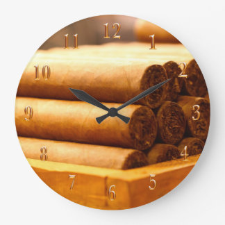 Hand Rolled Cigars La Romana DR. Gold Numbers Large Clock