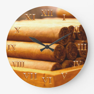 Hand Rolled Cigars La Romana DR. Gold Roman Nume Large Clock