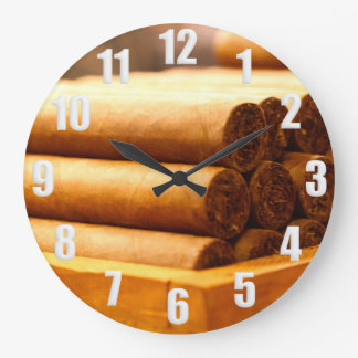 Hand Rolled Cigars La Romana DR. Numbers White Large Clock