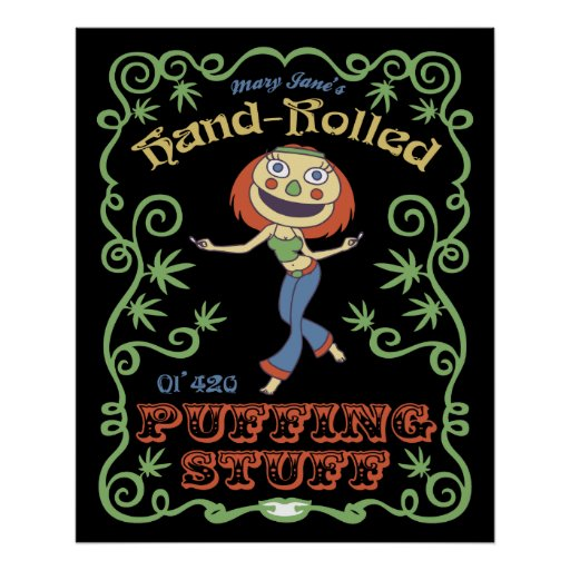 Hand Rolled Puffing Stuff Poster