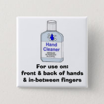 Hand Sanitizer Directions Button