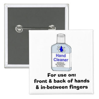 Hand Sanitizer Directions Pins
