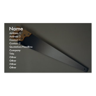 Hand saw tool to cut woods Double-Sided standard business cards (Pack of 100)