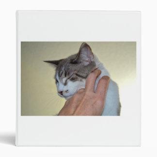 hand scratching kitten cute cat design 3 ring binder