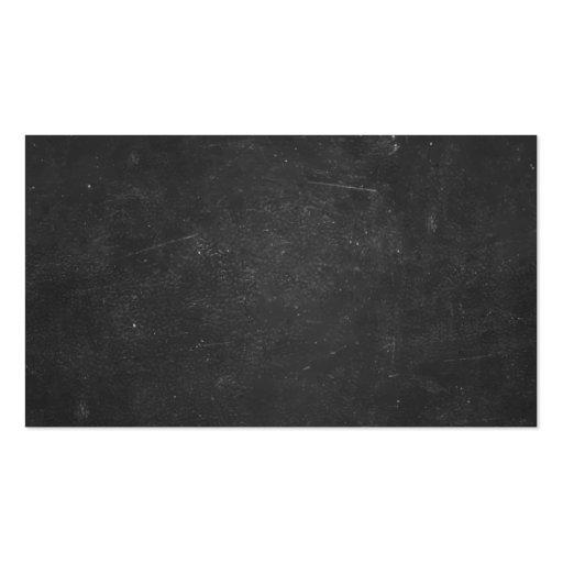 Hand Script Chalkboard Math Tutor Business Card (back side)