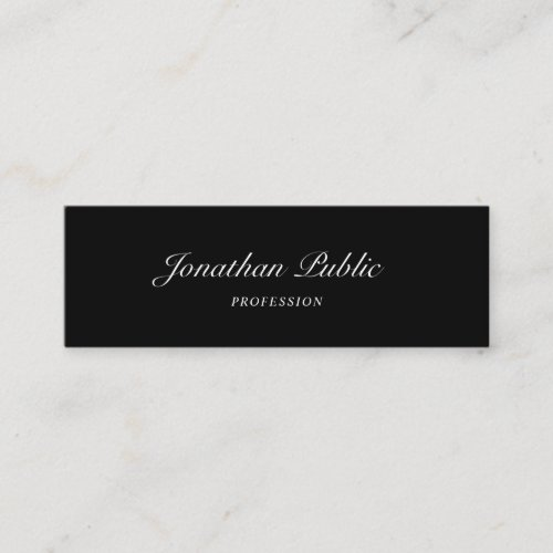 Hand Script Font Modern Simple Design Elegant Cool Mini Business Card