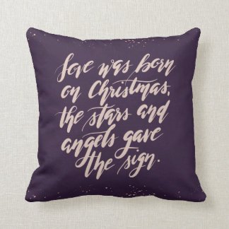 hand script original Holiday Pillow