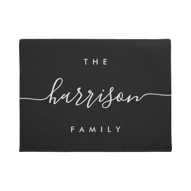 Hand Scripted | Personalized Family Name Doormat