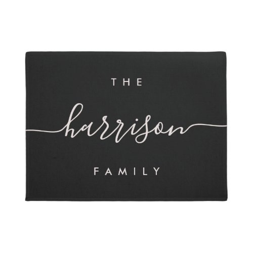 Hand Scripted  Personalized Family Name Doormat