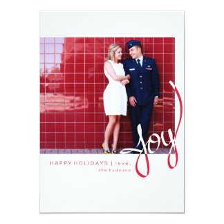 Hand Scripted Simple Joy Holiday Photo Card
