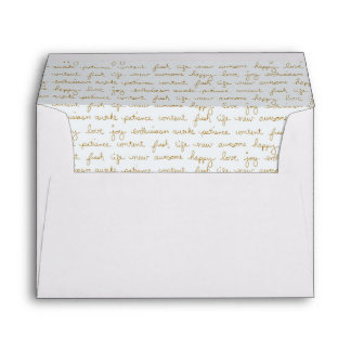 Hand Scripted Words of Inspiration Inside Lined Envelope