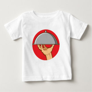 Hand Serving Tray of Food Infant T-shirt