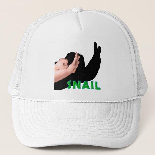 HAND SHADOW SNAIL TRUCKER HAT