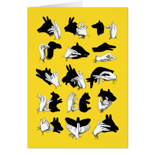 Hand shadows card