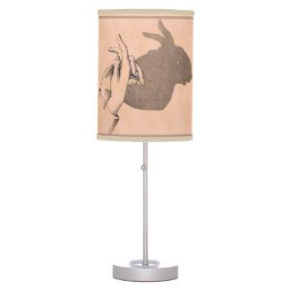 Hand Shadows Making a Bunny Image Table Lamp