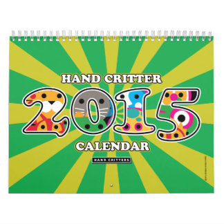 Hand Shaped Animals 2015 Calendar