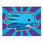 Hand shaped Hand Shaped Baby Narwhal Postcard