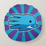 Hand shaped Hand Shaped Baby Narwhal Round Pillow
