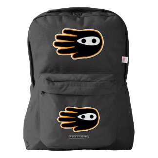 Hand Shaped Black Ninja American Apparel™ Backpack