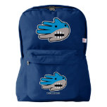 Hand shaped Hand Shaped Blue Shark mouth American Apparel™ Backpack