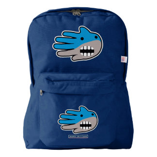 Hand Shaped Blue Shark mouth American Apparel™ Backpack