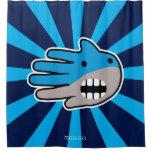 Hand shaped Hand Shaped Blue Shark mouth Shower Curtain