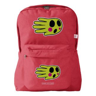 Hand Shaped Green Ghost American Apparel™ Backpack