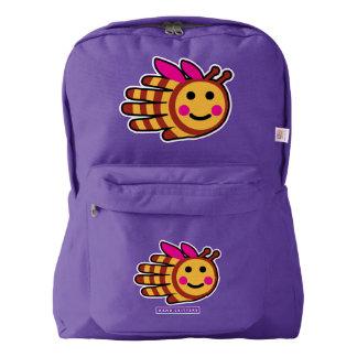 Hand Shaped Happy Honeybee Bee American Apparel™ Backpack