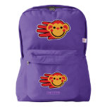 Hand shaped Hand Shaped Happy Red Monkey American Apparel™ Backpack