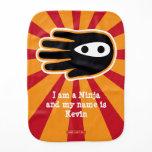 Hand shaped Hand Shaped Mini Ninja Warrior Burp Cloth