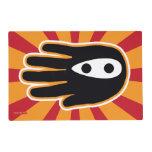 Hand shaped Hand Shaped Mini Ninja Warrior Placemat