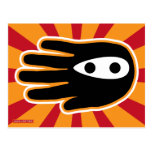 Hand shaped Hand Shaped Mini Ninja Warrior Postcard