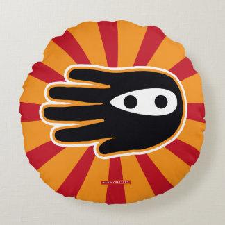 Hand Shaped Mini Ninja Warrior Round Pillow