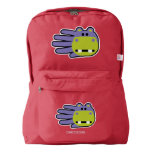 Hand shaped Hand Shaped Purple Hippo American Apparel™ Backpack