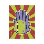 Hand shaped Hand Shaped Purple Hippo Fleece Blanket