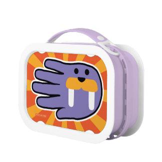 Hand Shaped Purple Walrus Lunch Box