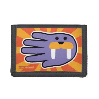 Hand Shaped Purple Walrus Tri-fold Wallet