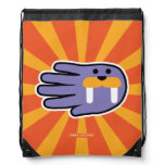 Hand shaped Hand Shaped Purple Walrus Tusks Drawstring Bag