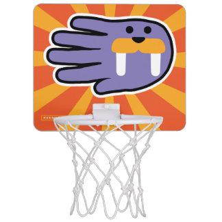 Hand Shaped Purple Walrus Tusks Mini Basketball Backboards