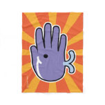Hand shaped Hand Shaped Purple Whale Fleece Blanket