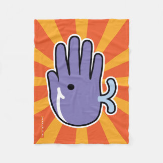 Hand Shaped Purple Whale Fleece Blanket