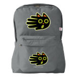 Hand shaped Hand Shaped Scared Black Cat American Apparel™ Backpack