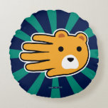 Hand shaped Hand Shaped Yellow Honey Bear Round Pillow
