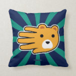 Hand shaped Hand Shaped Yellow Honey Bear Throw Pillow
