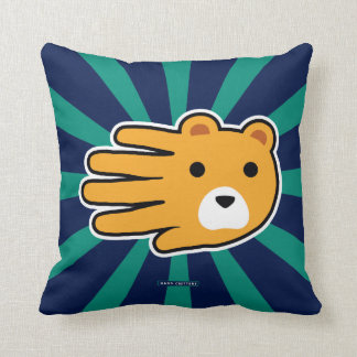 Hand Shaped Yellow Honey Bear Throw Pillow