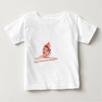 Hand showing model with inside of human kidney baby T-Shirt
