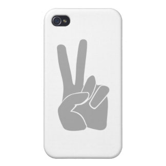 Hand sign Victory Case For iPhone 4